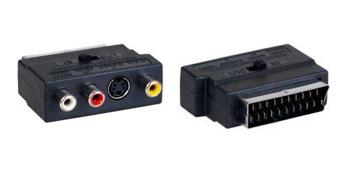 AQ KV201 - redukce ze SCART konektoru na S-Video + 3x RCA s přepínáním in/out